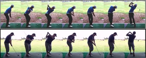 down the line golf swing sequence swingprofile technology