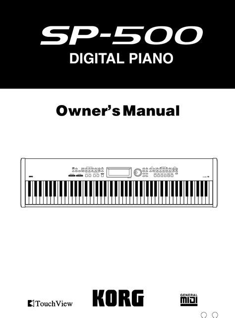 Digital Piano Korg Sp 500 korg electronic keyboard sp 500 user guide manualsonline
