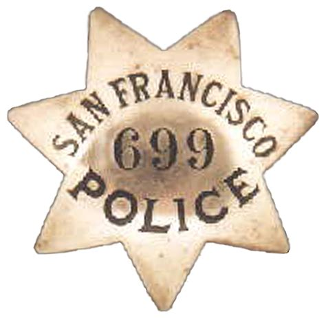 Sfpd Arrest Records File Badge Of A San Francisco Department Officer 699 Jpg Wikimedia Commons