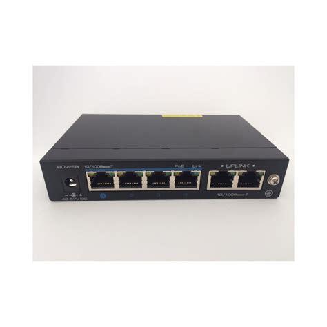 switch 4 porte switch ethernet 4 porte poe 60w 2 porte uplink 10 100m