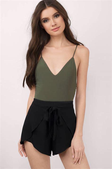 olive bodysuit v neck bodysuit olive bodysuit
