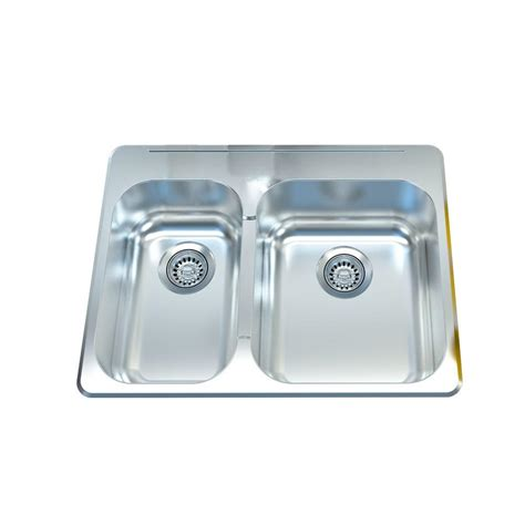 27 kitchen sink filament design cantrio deck mounted stainless steel 27 in 1 basin kitchen sink kss