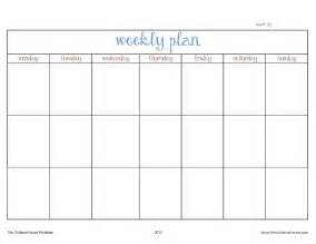 plan of the week template the cluttered house weekly planner printable