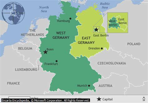 Map Of East Germany by Germany 171 Billsportsmaps Com