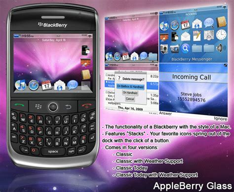 themes blackberry 8900 javelin appleberry theme suite for the blackberry curve 8900