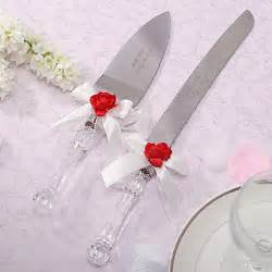 personalized wedding serving sets serving sets wedding cake knife personalized white satin cake serving set 272680 2017
