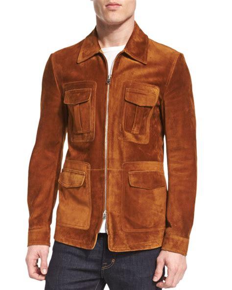 Jaket Suede Suede Jacket lyst tom ford suede zip jacket in brown for
