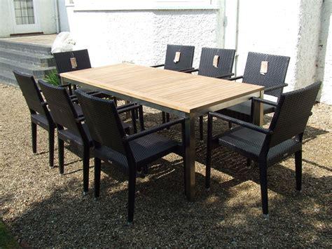 Teak Garden Furniture 8 Seater Teak Stainless Steel And Viro 174 Woven 8 Seater Teak Garden