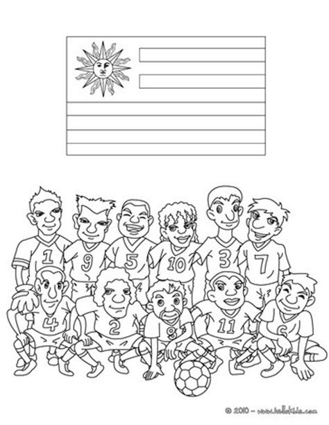coloring pages for uruguay team of uruguay coloring pages hellokids