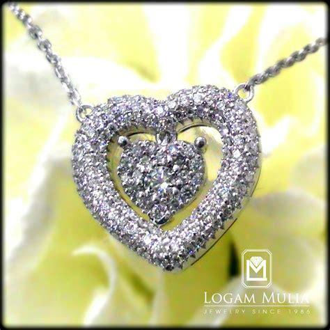 Liontin Berlian Hati Simple 1001 jual kalung berlian ckry sd 1510 stdl logammuliajewelry