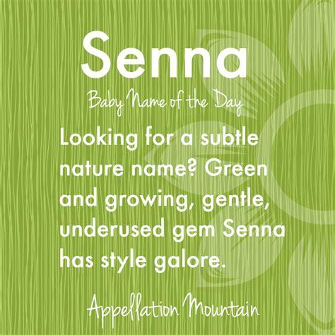 senna baby    day appellation mountain