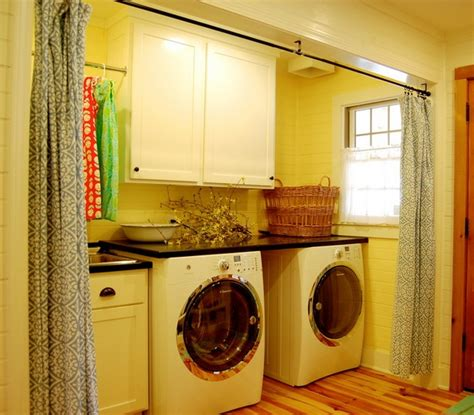 utility room curtains golden yellow laundry room curtains for curtain divider