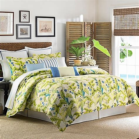 tommy bahama queen comforter buy tommy bahama 174 blue palm queen comforter set in sea
