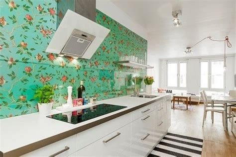 Flower Wallpaper Kitchen | flower kitchen wallpaper
