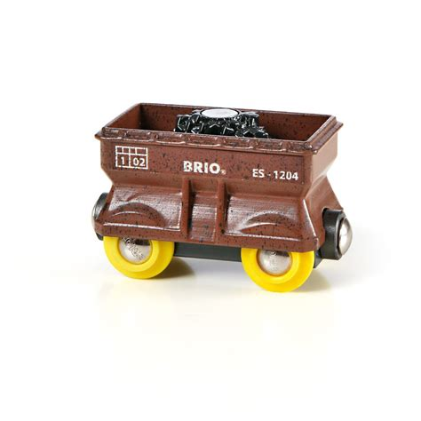 brio wooden train brio wooden railway coal wagon at railway toys