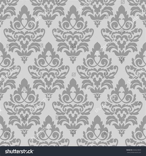 grey damask pattern elegant grey damask wallpaper vintage pattern stock vector