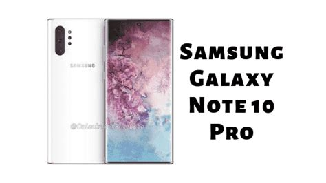 samsung galaxy note 10 pro price specification pros and cons