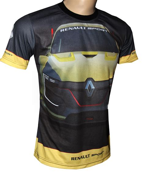 renault rs t shirt with logo and all printed picture