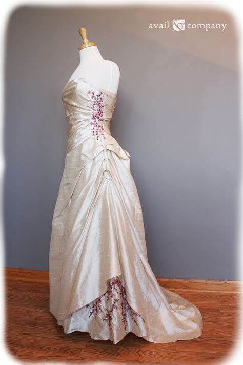 Brown Bridal by Cherry Blossom Wedding Dress Pink And Brown On Pearl By