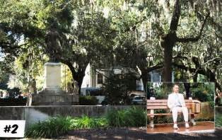 Forrest Gump On Bench Most Memorable Movie Locations Movies Awesomenator