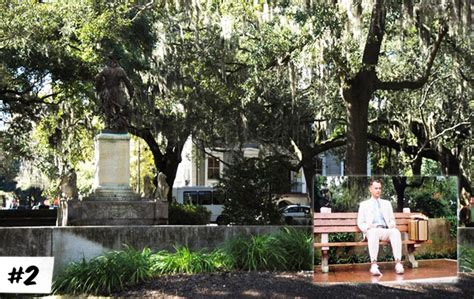 savannah ga forrest gump bench most memorable movie locations movies awesomenator