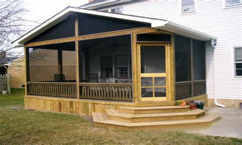 front porches designs screen in deck for mobile home
