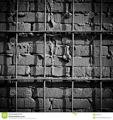 Against A Brick Wall iron railing against a brick wall stock image image