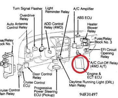1998 toyota 4runner ecu location wiring diagrams repair