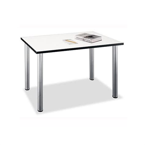 Spectrum Table L by Bush Business Furniture Aspen Rectangle Table In White