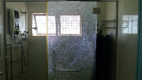 tempered glass shower door shattered shattering a tempered glass door