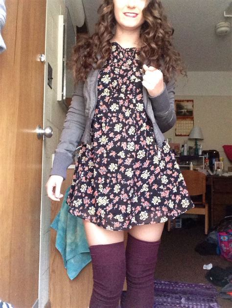 diy thigh high socks from free dress and burgundy thigh high socks how to