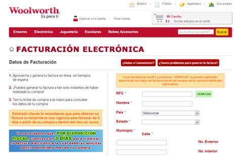 auto zone facturas pdf y xml como sacar facturas electr 243 nicas de woolworth