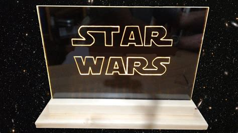 how to make a lighted sign how to make acrylic led star wars edge light sign emblem