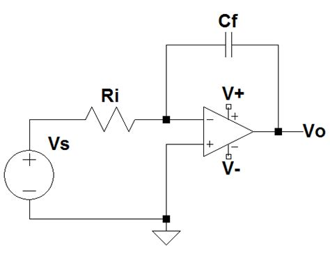 integrator circuit gain op gain of integrator lifier with square wave input electrical engineering stack exchange