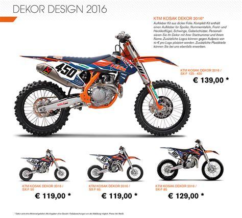 ktm dekor ktm exc 2016 dekor motorrad bild idee