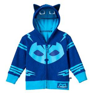 toddler boy animated show pj masks catboy blue zip costume hoodie ebay