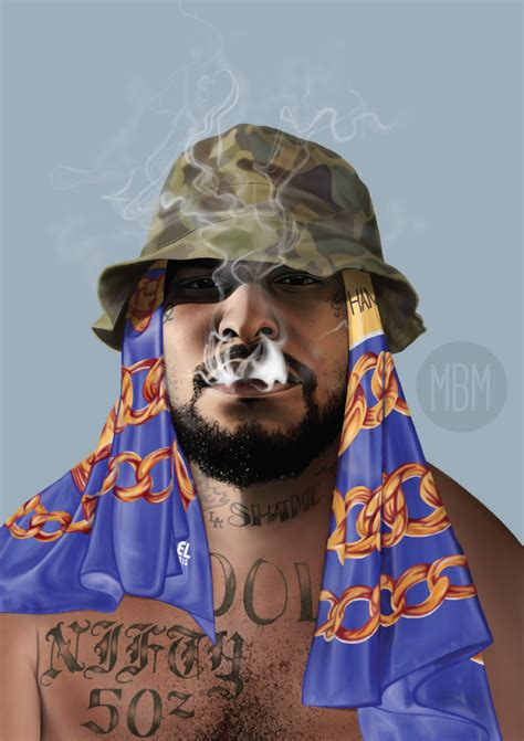 Schoolboy Q Drawing by Schoolboy Q Painting Illustration Mr Birthmark