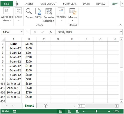 pivottable report grouping the date field by week number