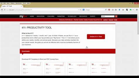 Eedge Tip Keller Williams 411 Tools Youtube Leroy Marketing Templates