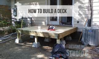 deck building how to build a deck