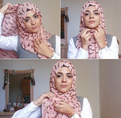 tutorial hijab simpel  ikat pita