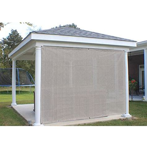 awning screen panels alion home sun shade privacy panel with grommets on 2