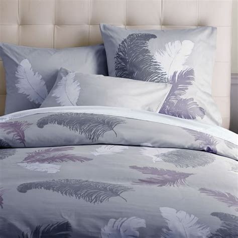 Tossed Feather Duvet Cover West Elm