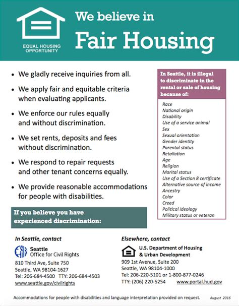 printable fair housing poster tenant criteria lori gill associates