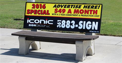 iconic sign group bus bench advertising corpus christi