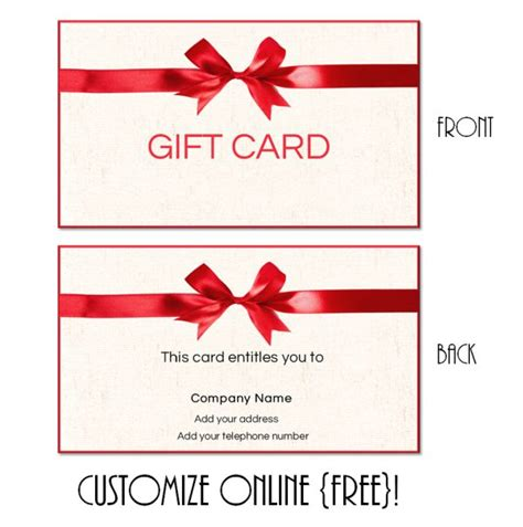 whatever you want gift card template gift card template