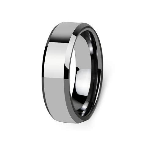 s flat beveled edge polished tungsten custom engraved