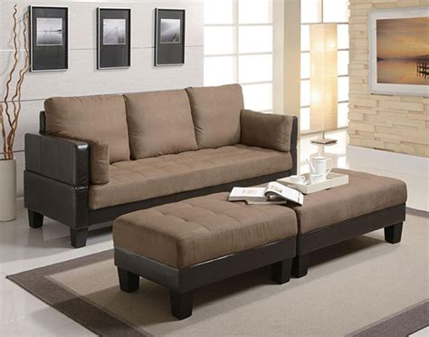fulton contemporary sofa bed with 2 ottomans in
