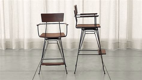 Ls Plus Counter Stools by Elston Swivel Bar Stools Crate And Barrel