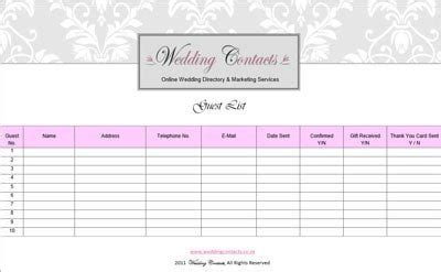 wedding guest table list template pink events 187 fort collins colorado wedding